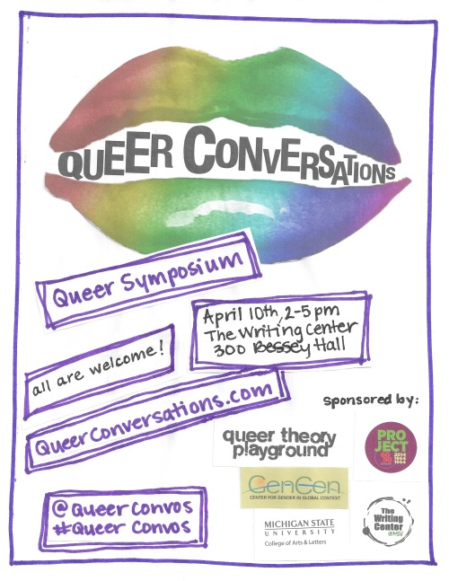 queer conversations dot com - flyer